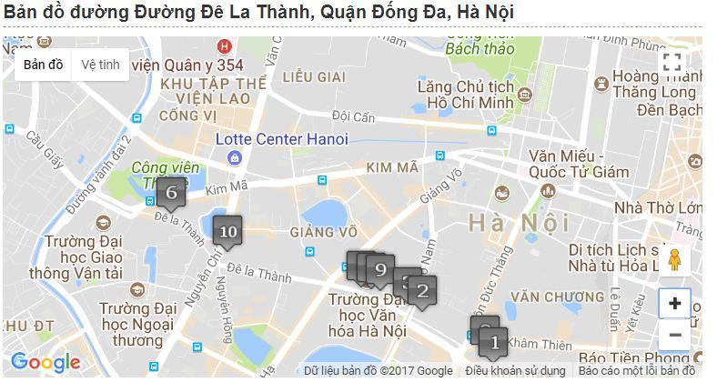 Cửa Hàng Nội Thất Tại Hà Nội: Phố Nội Thất Đê La Thành trên bản đồ