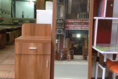 Bàn trang điểm MDF phủ Melamine gương đứng 0.8m