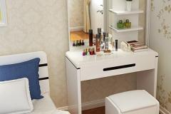 Bàn trang điểm sẽ giúp phòng ngủ thêm sang trọng, phong cách