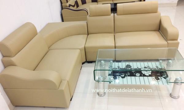 Sofa góc uàu cafe sữa, kiểu dáng hiện đại, bền đẹp