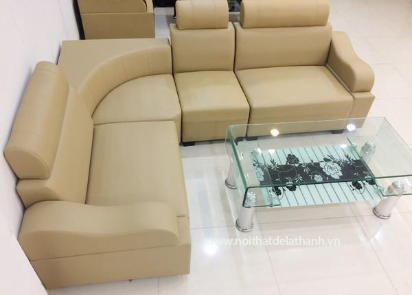 Sofa góc loại có tay vịn dễ dàng sắp đặt