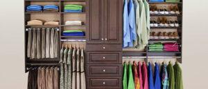 Quần áo luôn được cất giữ một cách trật tự, gọn gàng, ngăn nắp