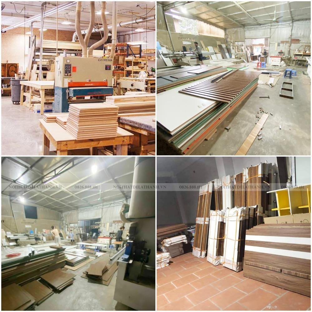 Một vài hình ảnh về xưởng sản xuất Nội thất Đê La Thành