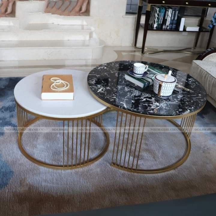 Mẫu bàn sofa - bàn trà mặt đá