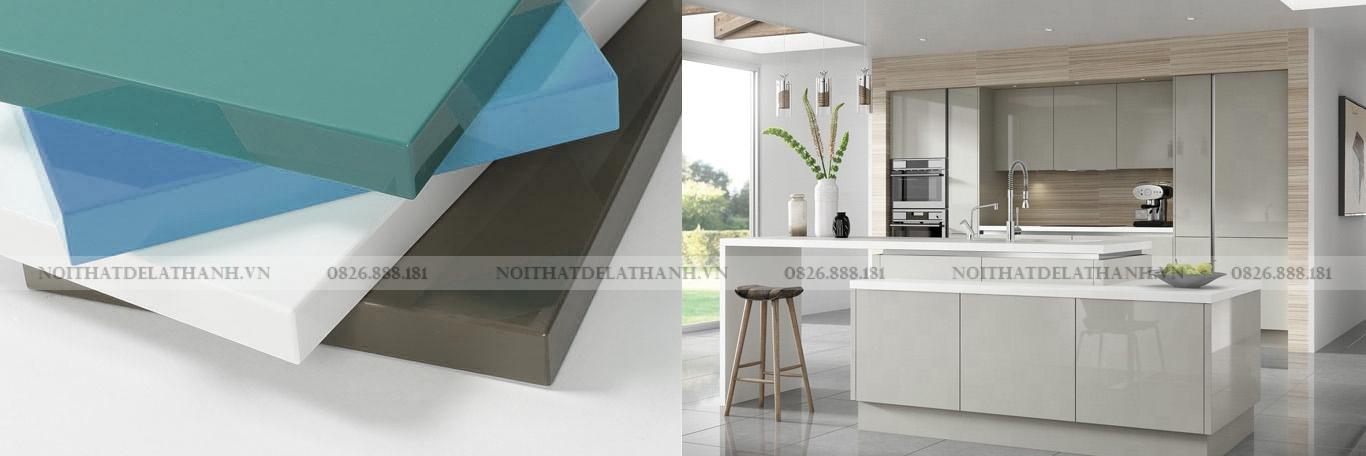 Acrylic sử dụng làm tủ bếp cho vẻ đẹp tuyệt vời!