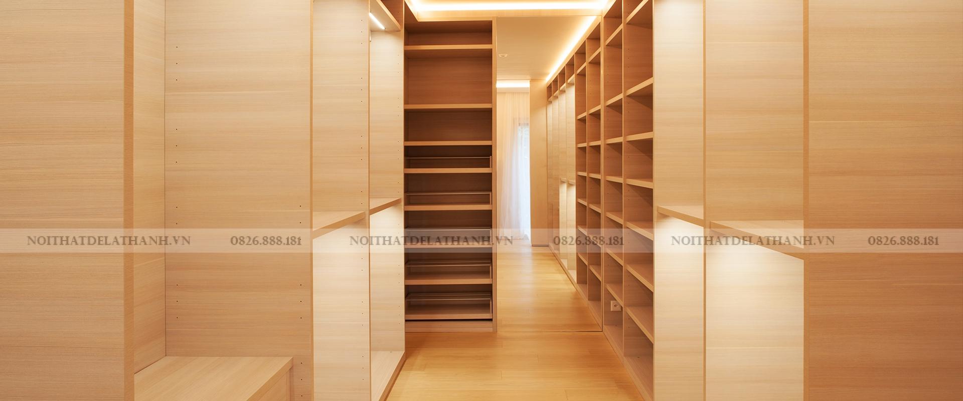 Một công trình hoàn thiện bằng gỗ MDF