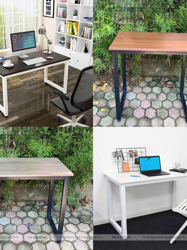 Bàn học - bàn làm việc chân sắt chữ U (mặt bàn gỗ MFC) giá rẻ