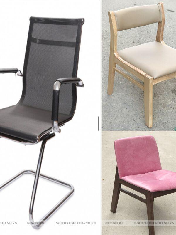 Ghế học sinh, ghế văn phòng gỗ cao su và gỗ sồi Nga giá rẻ